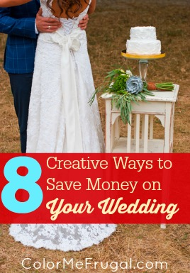 8 creative ways to save money on your wedding color me frugal. Black Bedroom Furniture Sets. Home Design Ideas